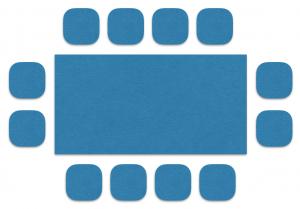 Bestuhlung: Blocktafel